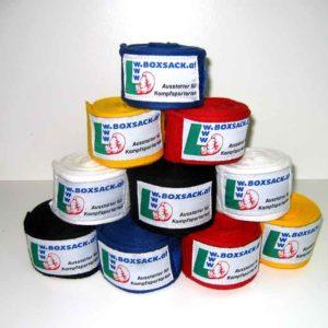 Handbandage Boxbandagen in elastische und unelastischer Ausführung. Typ a