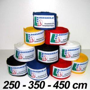 Handbandage Boxbandagen in elastische und unelastischer Ausführung. Typ b