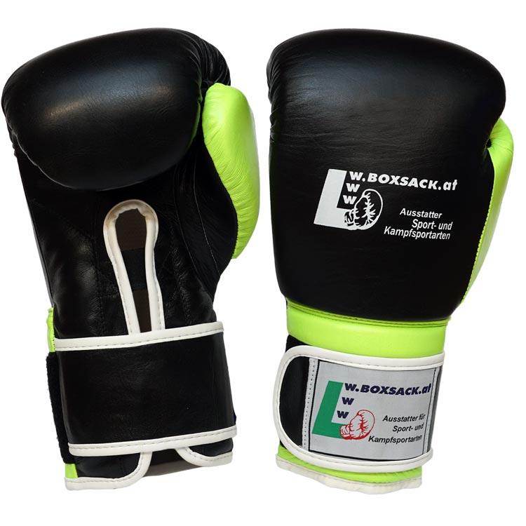 Boxhandschuhe FORCE NEON GREEN aus strapazierfähigem Rindsleder mit Mesh Bild c