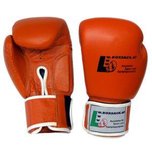Boxhandschuhe WINNER aus strapazierfähigem Rindsleder Farbe Orange Bild a
