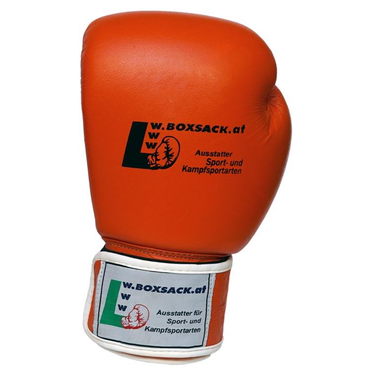 Boxhandschuhe WINNER aus strapazierfähigem Rindsleder Farbe Orange Bild c