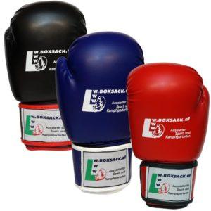 Boxhandschuhe POWER FIT aus strapazierfähigem Kunstleder Farbe Rot Blau Schwarz Bild g