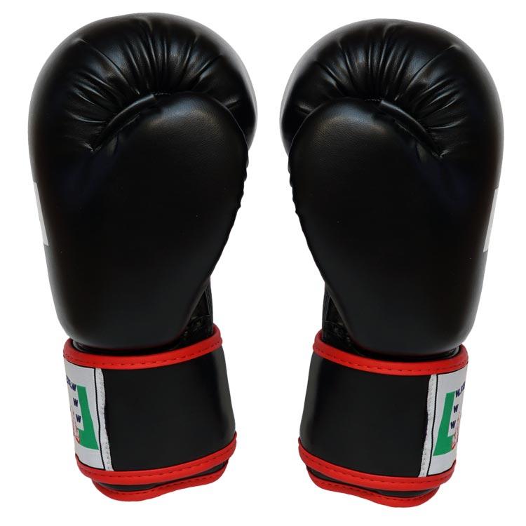 Boxhandschuhe POWER FIT aus strapazierfähigem Kunstleder Farbe Rot Blau Schwarz Bild f