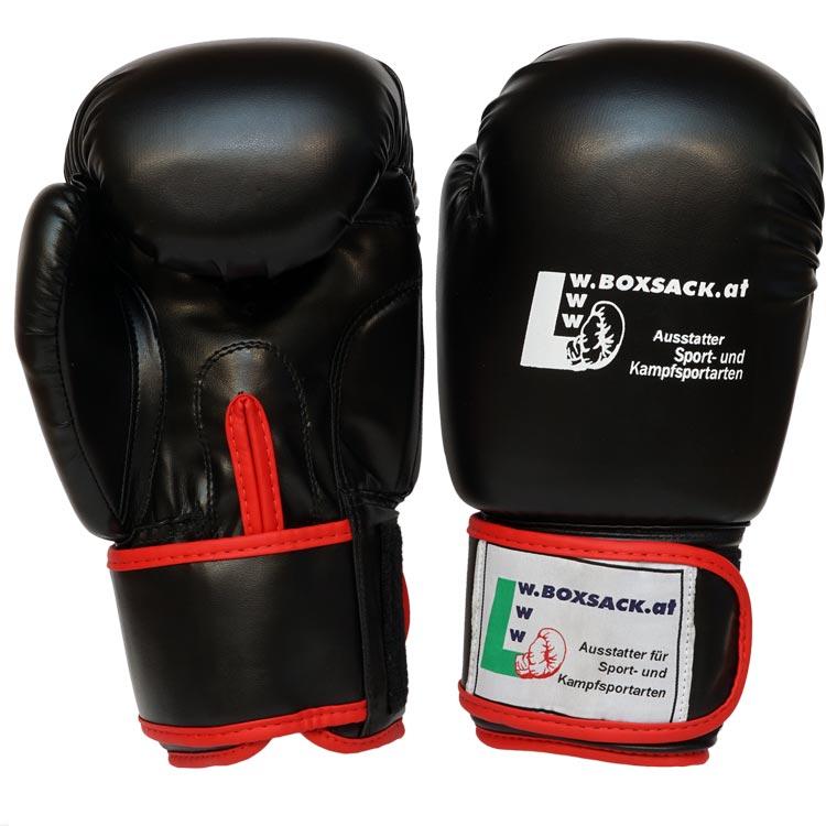 Boxhandschuhe POWER FIT aus strapazierfähigem Kunstleder Farbe Rot Blau Schwarz Bild e