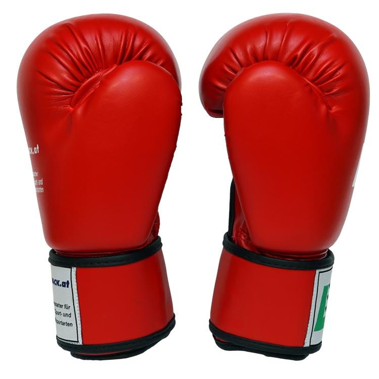 Boxhandschuhe POWER FIT aus strapazierfähigem Kunstleder Farbe Rot Blau Schwarz Bild d