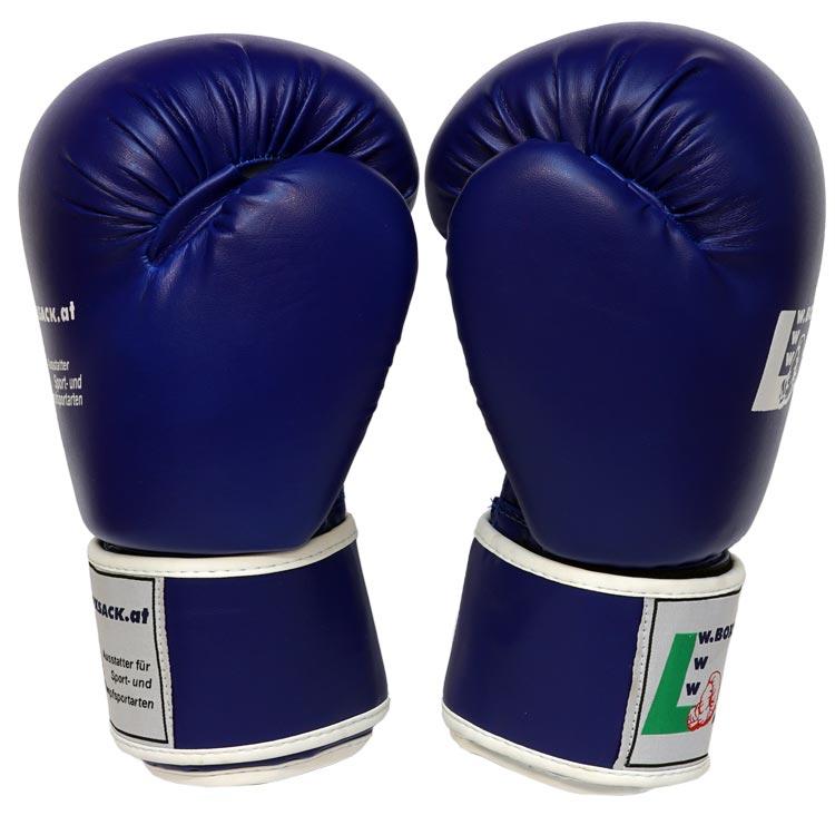 Boxhandschuhe POWER FIT aus strapazierfähigem Kunstleder Farbe Rot Blau Schwarz Bild c