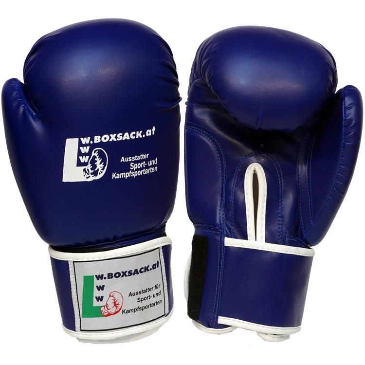 Boxhandschuhe POWER FIT aus strapazierfähigem Kunstleder Farbe Rot Blau Schwarz Bild b