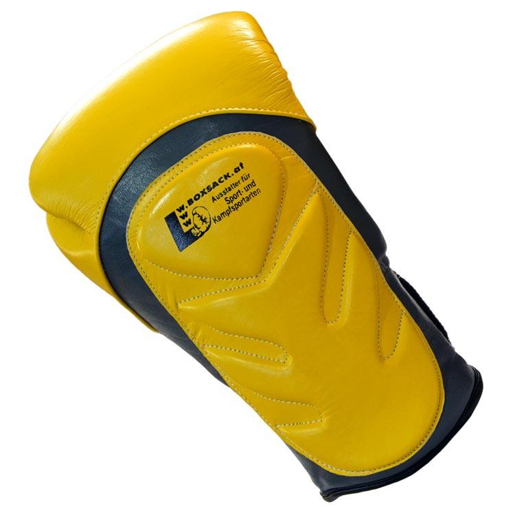 Boxhandschuhe SNAKE aus Rindsleder Farbe Gelb Grau Bild d