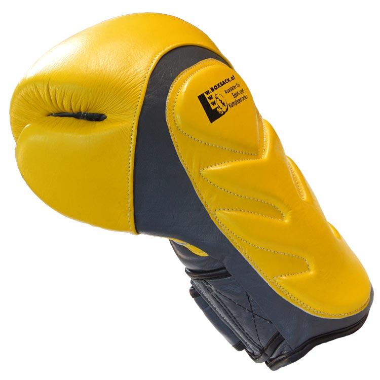 Boxhandschuhe SNAKE aus Rindsleder Farbe Gelb Grau Bild b