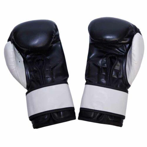 Boxhandschuhe BLACK & WHITE aus strapazierfähigem Kunstleder Bild b