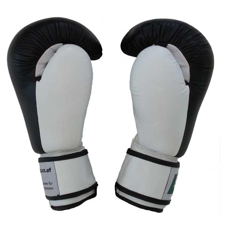 Boxhandschuhe KNOCK OUT aus strapazierfähigem Rindsleder mit Lüftungslöcher Bild b