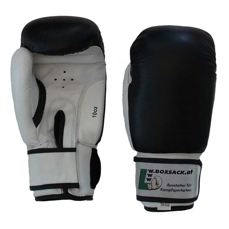 Boxhandschuhe KNOCK OUT aus strapazierfähigem Rindsleder mit Lüftungslöcher Bild a