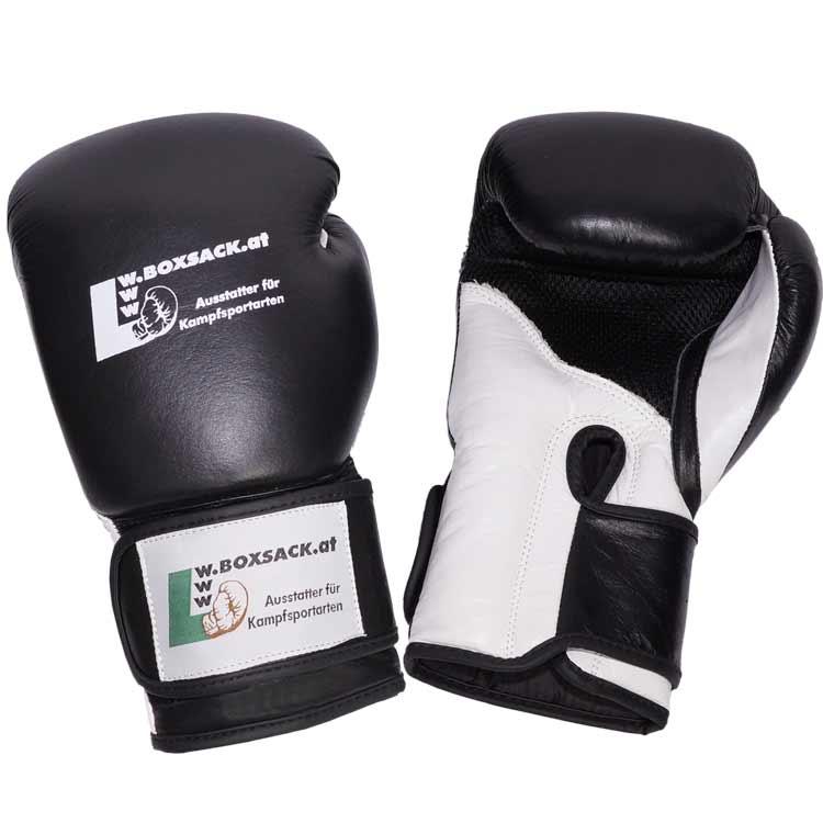 Boxhandschuhe TITANIUM aus bestem Rindsleder und extra breitem Verschluss Bild d
