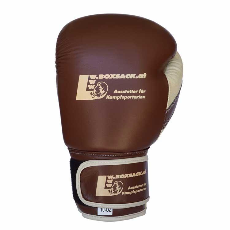 Boxhandschuhe OLD STYLE aus strapazierfähigem Rindsleder Farbe Orange Bild d