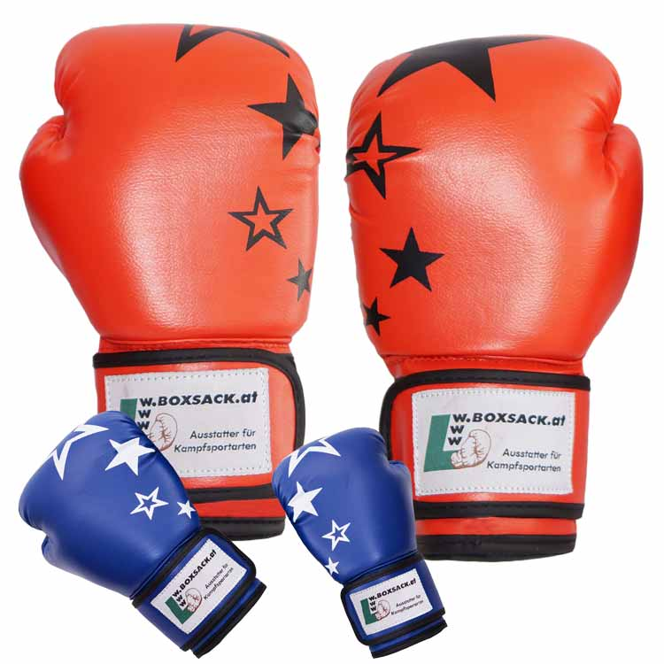 Boxhandschuh JUNIOR STAR mit Sternen verschiedene Farben