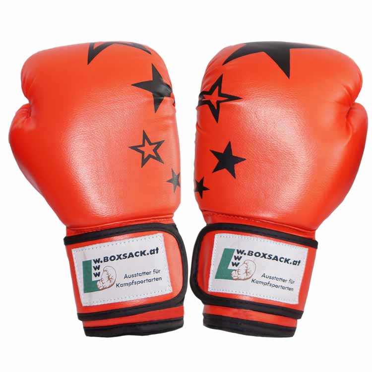 Boxhandschuh JUNIOR STAR mit Sternen Farbe Rot a