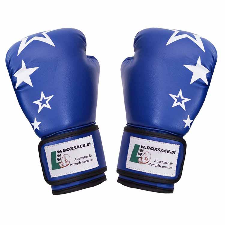 Boxhandschuh JUNIOR STAR mit Sternen Farbe Blau