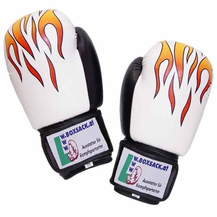 Boxhandschuhe STRONG FIRE widerstandsfähiges Kunstleder Typ b