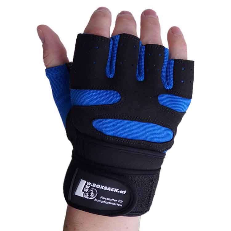 Gewichtherberhandschuhe Fitnesshandschuhe Leder Schwarz Blau Typ a