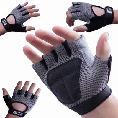 Gewichtherberhandschuhe Fitnesshandschuhe Leder Mesch Varianten Typ d