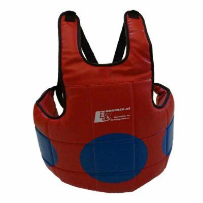 Brustschutz Körperschutz Rot mit Trefefrpunkt