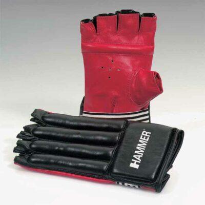 Sandsackhandschuhe Rindsleder von HAMMER SPORT Fingerlos