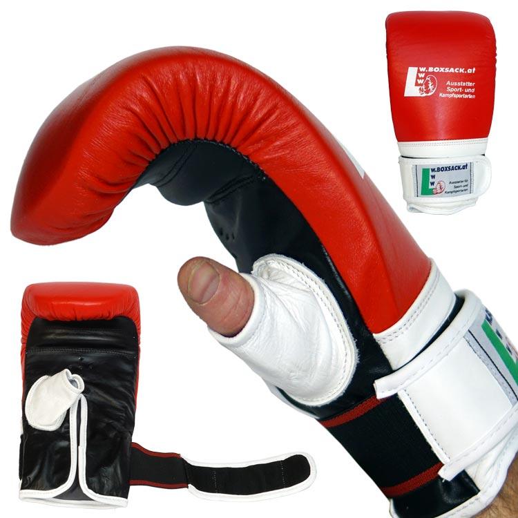 Sandsackhandschuhe STRIKE aus feinstem Leder Typ c