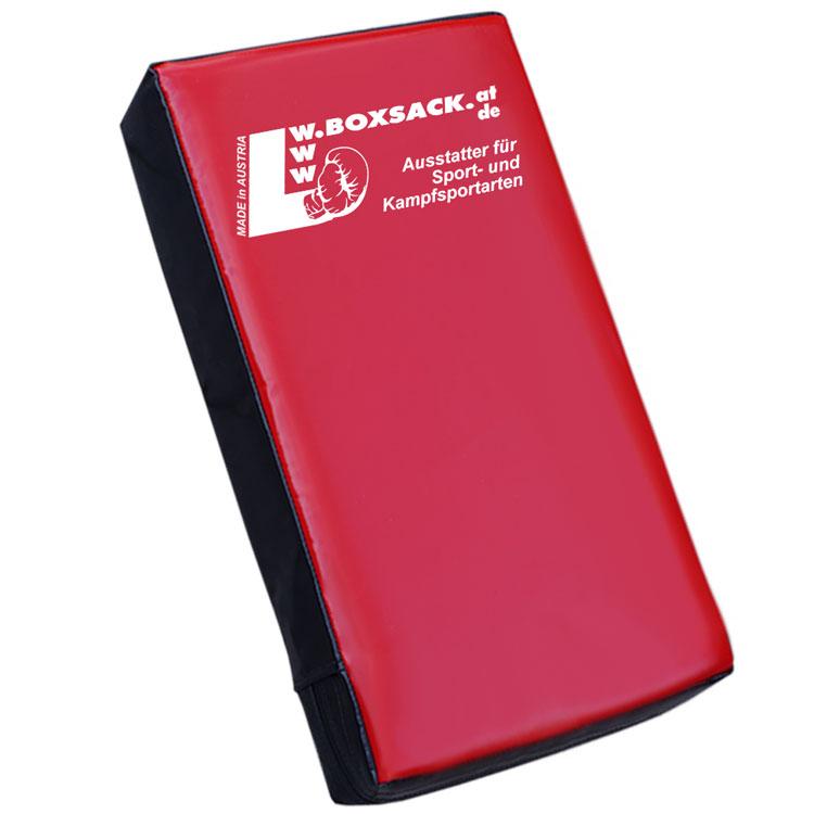 Schlagpolster PRIME Gerade Schwarz Rot 65 x 40 x 12 cm Typ d