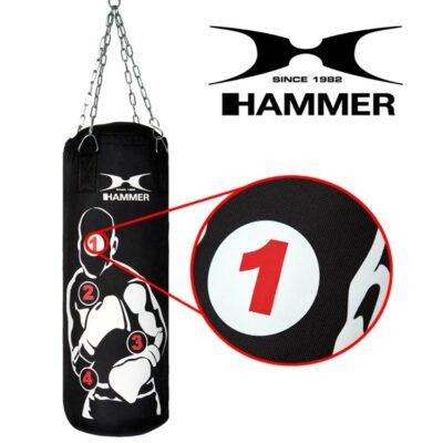 Boxsack HOME FIT SPARRING PRO von HAMMER SPORT mit Treffpunkten c