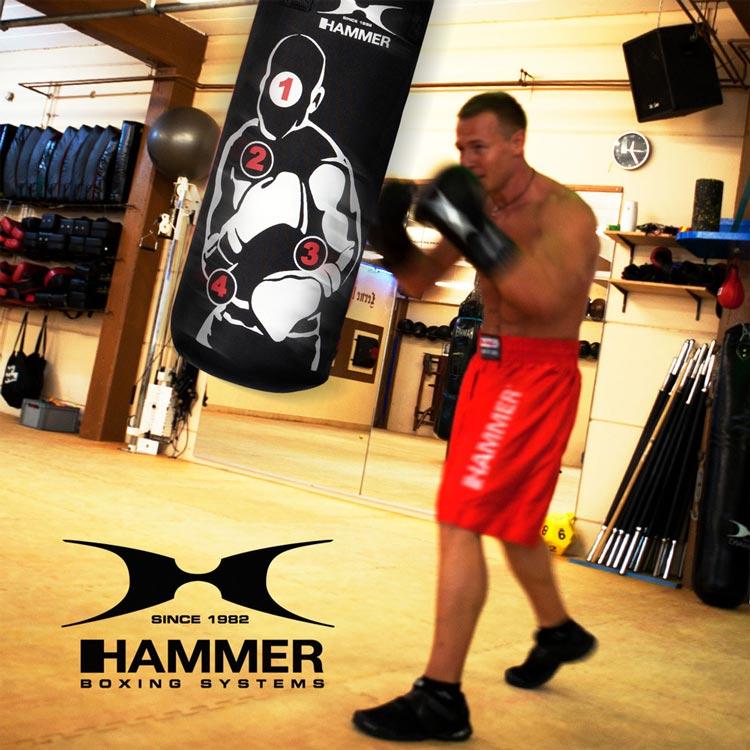 Boxsack HOME FIT SPARRING PRO von HAMMER SPORT mit Treffpunkten a