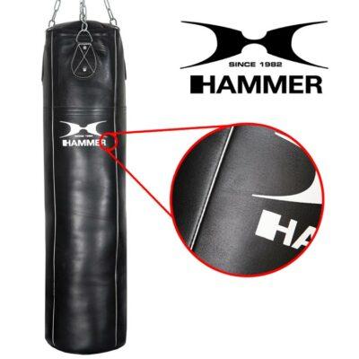 Boxsack Premium HAMMER SPORT Rindsleder Professional Farbe Schwarz