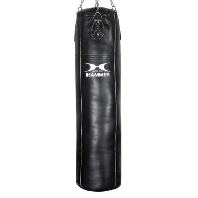 Boxsack Premium Rindsleder Professional Farbe Schwarz von Hammer Sport