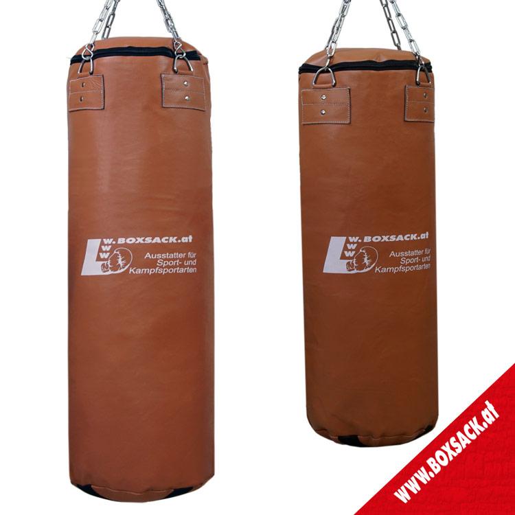 Boxsack aus Rindsleder im Retro Design Farbe Braun