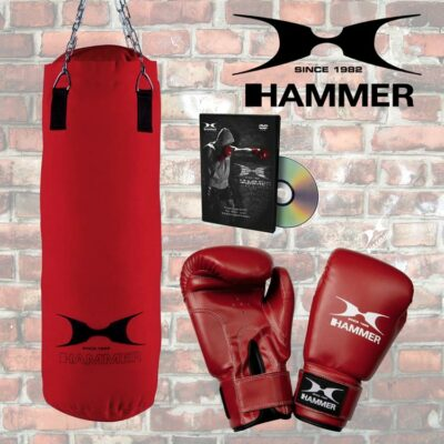 Boxsack Set HAMMER SPORT FIT mit Handschuhe und CD Typ c