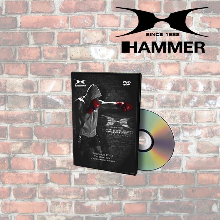 Boxsack Set HAMMER SPORT FIT mit Handschuhe und CD Typ e