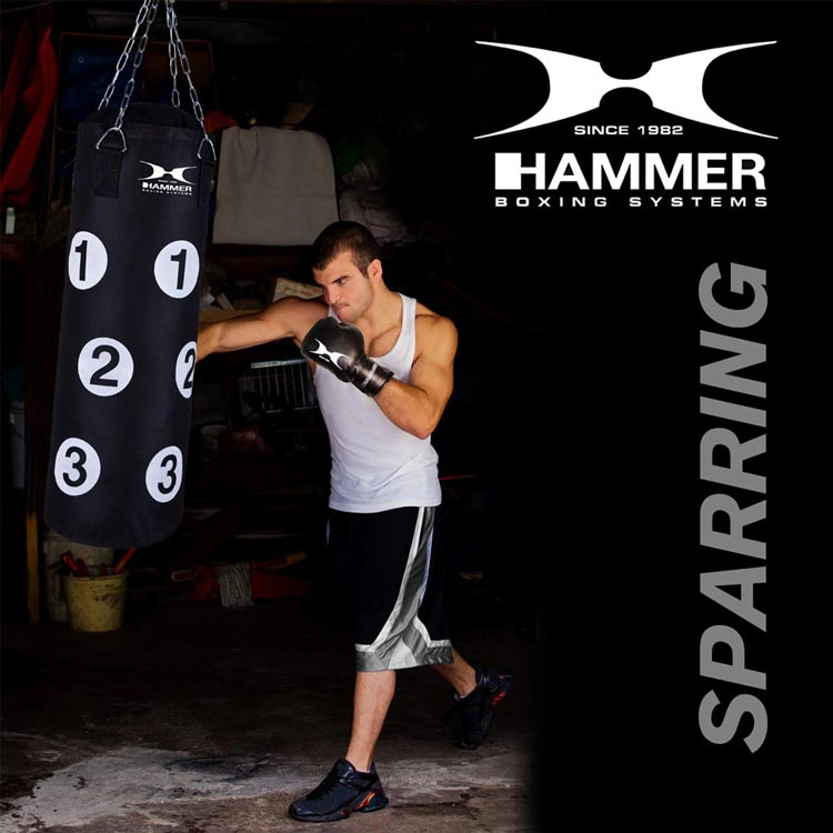 Boxsack SPARRING PARTNER mit Trefferpunkten von HAMMER SPORT b