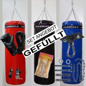 Boxsack Set GIGA PAKET mit Leder Sandsackhandschuhe Decken Befestigung und Zubehör