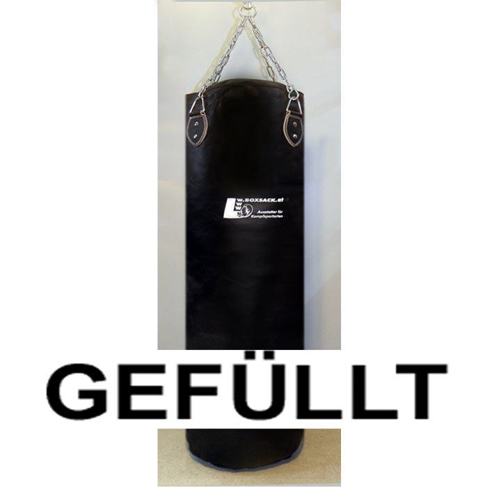 Boxsack aus Leder in verschiedenen Größen gefüllt und ungefüllt Typ c