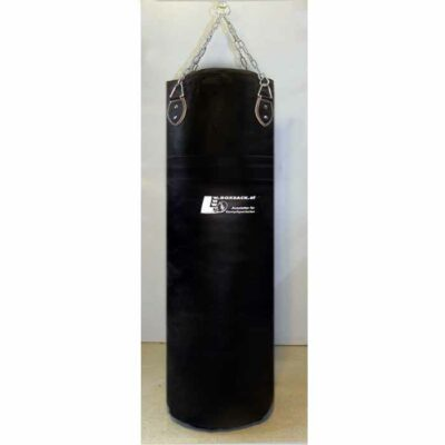 Boxsack aus Leder in verschiedenen Größen gefüllt und ungefüllt Typ h