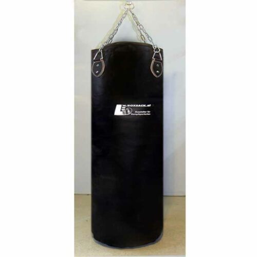 Boxsack aus Leder in verschiedenen Größen gefüllt und ungefüllt Typ a