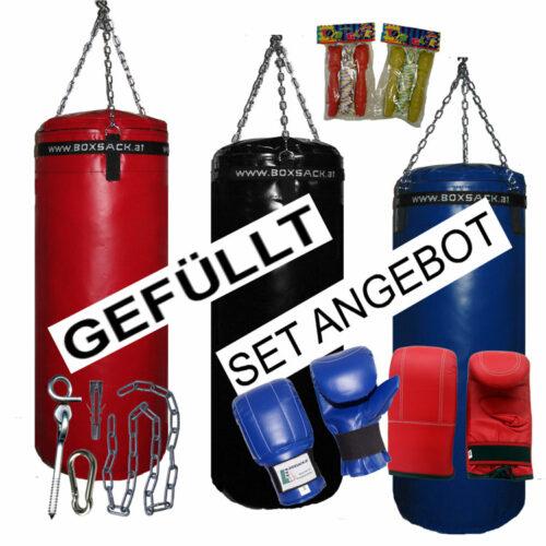 Boxsack Set Mega Paket gefüllt mit Handschuhe und Deckenbefestigung