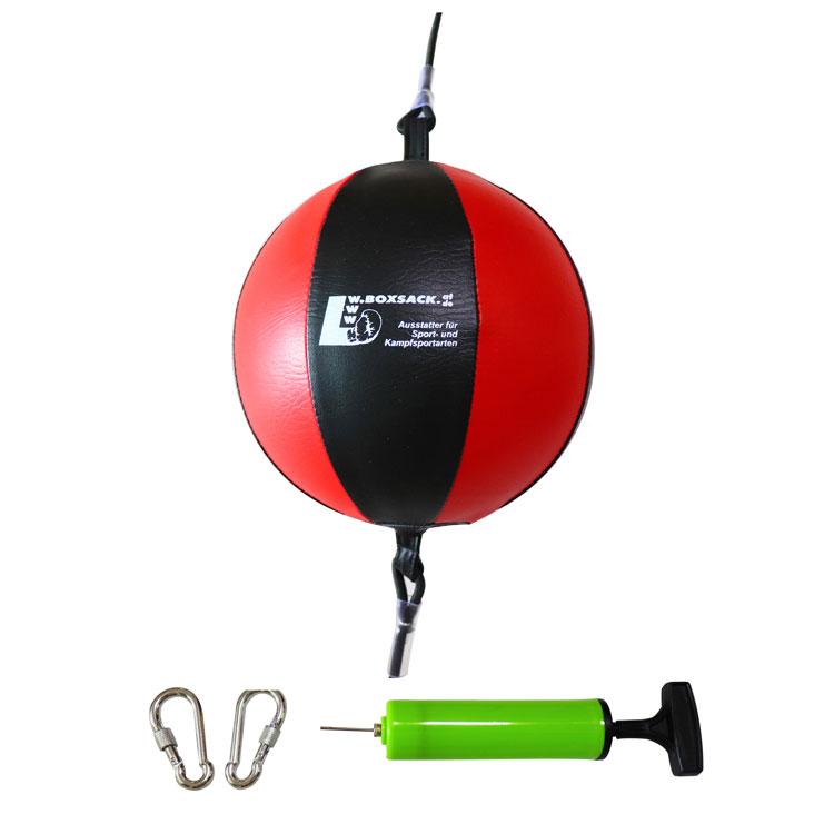 Doppelendball aus Leder mit Gummiseil