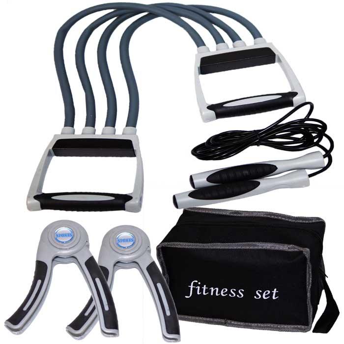 Fitnessset mit Expander Springseil und Handgrips - Fingerhantel