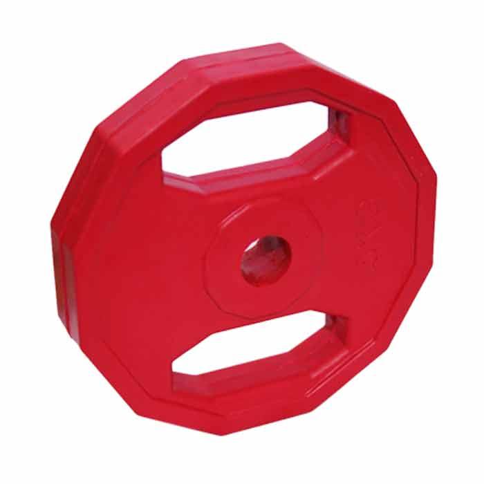 Hantelscheiben Hexagon aus Stahl mit Gummibeschichtung verschiedene Gewichte - a