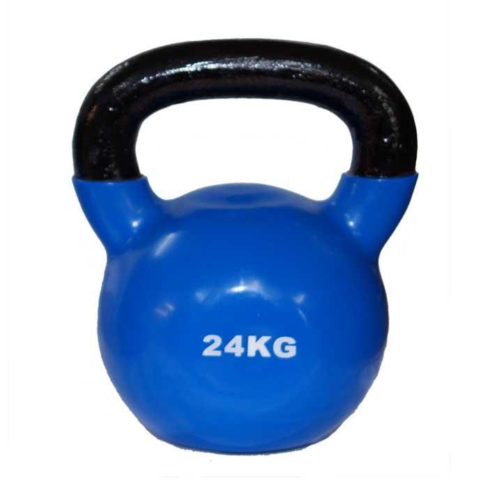 Kettlebell aus Stahl mit Gummibeschichtung verschiedene Gewichte Farbe Blau