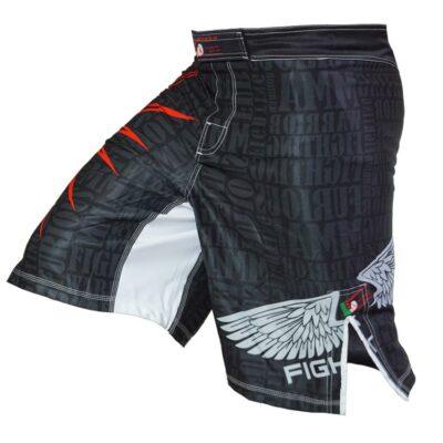 MMA Shorts red Star - b