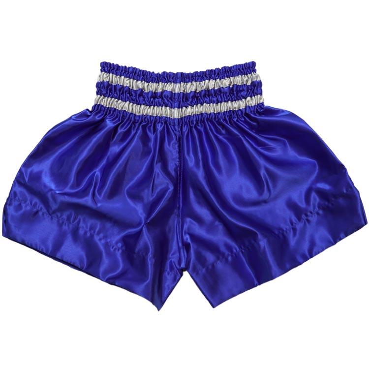 Muay Thai Short Warrior Farbe Blau Grau Gelb Typ B