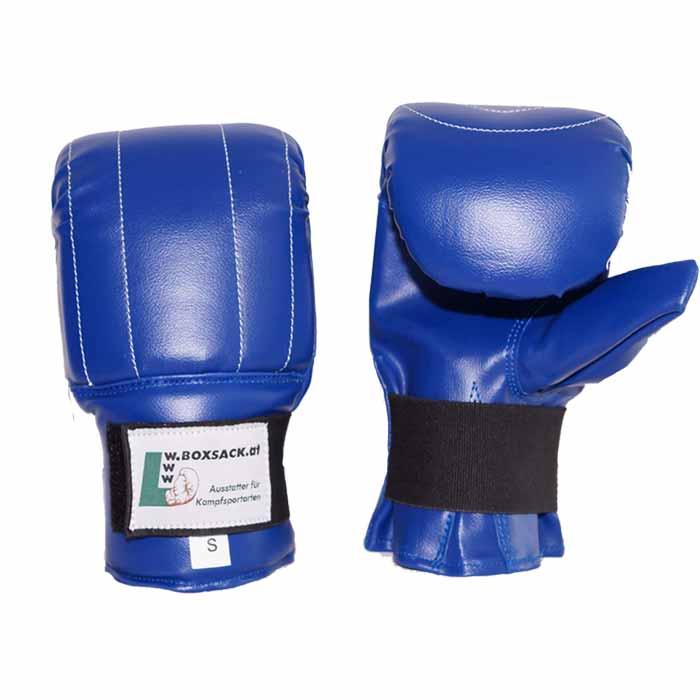 Sandsackhandschuhe aus strapazierfähigem PU Blau
