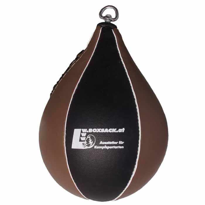 Boxbirne Speedball aus Rindsleder mit Drehwirbel aus Stahl Bild c