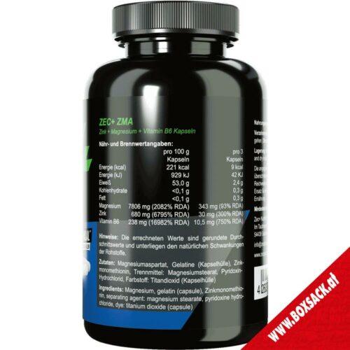 Zec Zink Kapseln Zma mit Zink Magnesium Vitamin B6 90 Stueck Bild a